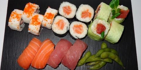 Degustación de sushi